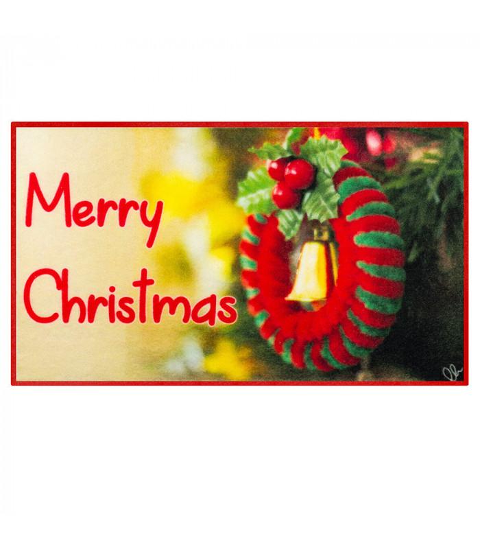 CHRISTMAS PARTY - Ghirlanda, tappetino natalizio antiscivolo da interno ed esterno