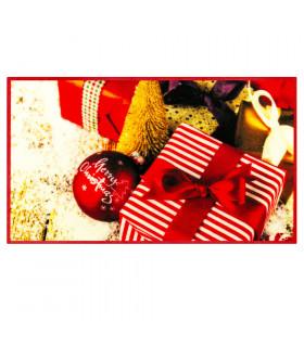 CHRISTMAS PARTY - Addobbi e regali, tappetino natalizio antiscivolo da interno ed esterno