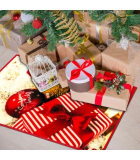 CHRISTMAS PARTY - Addobbi e regali, tappetino natalizio antiscivolo da interno ed esterno ambientata
