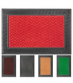 GRECA rectangular entrance doormat in rubber with engravings and absorbent carpet base 40x60 cm - assorted colors