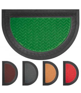 GRECA half moon doormat engraved rubber single size outdoor rug in various colors