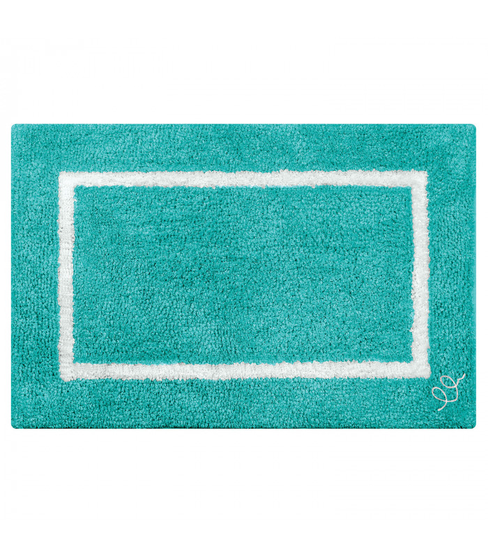SPACE Bath rug in cotton and high absorbency microfibre in two sizes 6 colors LIGHT BLUE VARIANT