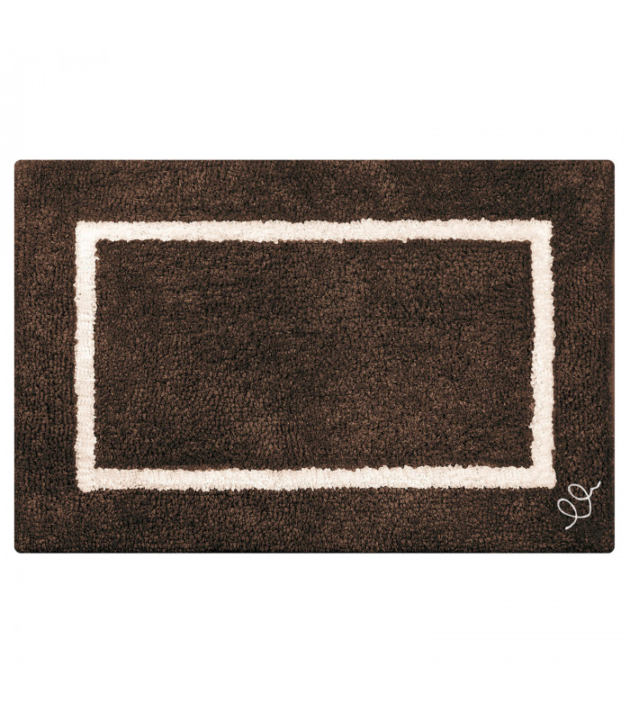 SPACE Bath rug in cotton and high absorbency microfibre in two sizes 6 colors BROWN VARIANT