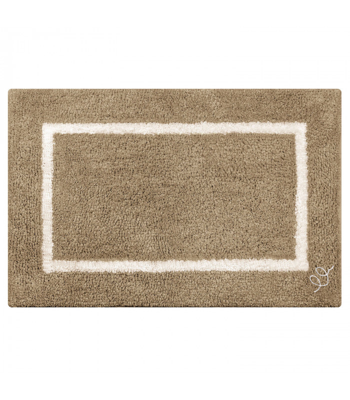 SPACE Bath rug in cotton and high absorbency microfibre in two sizes 6 colors LIGHT BROWN VARIANT