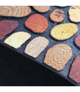 FLIPPER – Stone, zerbino stampato super resistente, antiscivolo in gomma dettaglio fondo
