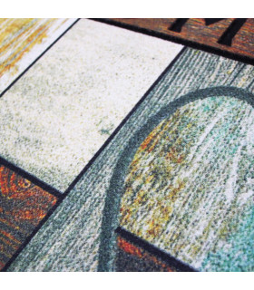 FLIPPER - Love, super anti-slip rubber printed doormat detail