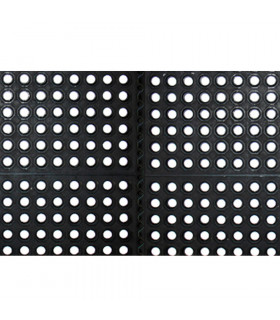 Modular anti-fatigue rubber mat