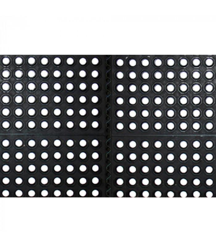 Zerbino PROFESSIONALE ULTRA 50X50 COMPONIBILE 100% GOMMA ALTO SPESSORE 12 mm