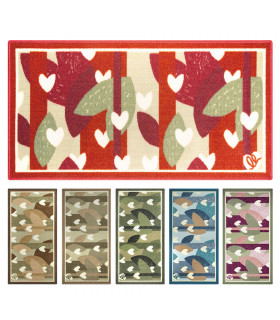 NEW SMILE Hearts - Non-slip printed kitchen rug. Assorted sizes and colors main picture
