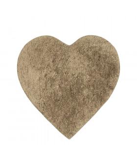 ELISIR CUORE | morbido tappeto da bagno in microfibra color beige
