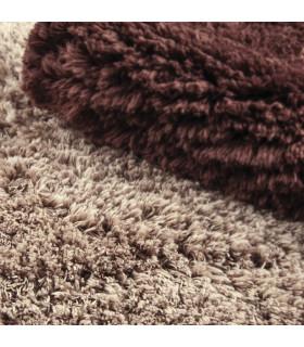 ELISIR CUORE | morbido tappeto da bagno in microfibra color beige/marrone dettaglio 2