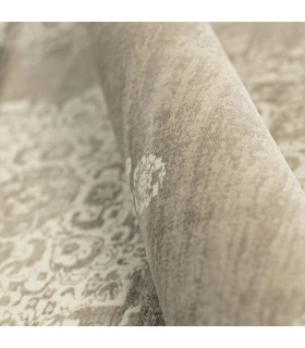 ANTIQUE - Beige White, furniture rug with classic vintage effect design. Assorted measures detail