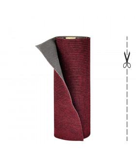 Rotolo a taglio: tappeto multiuso effetto moquette rosso