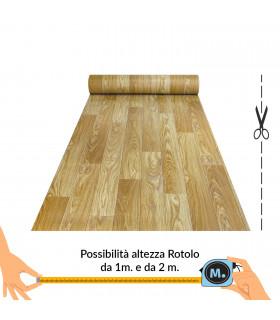 VINILE - Parquet Beige, rotolo ad effetto legno. Facile da tagliare. vetrina