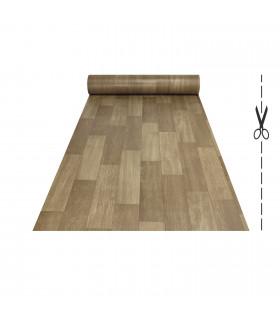 VINILE - Dark Brown rotolo ad effetto legno, facile da tagliare vetrina