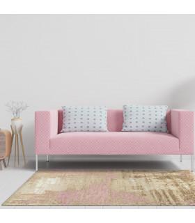 Opera tappeto di arredamento classico con disegni a livello varie misure variante CIPRIA ambientato