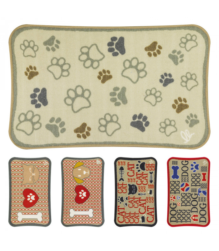 PETS - Printed short pile rug in dogs & cats patterns for pets