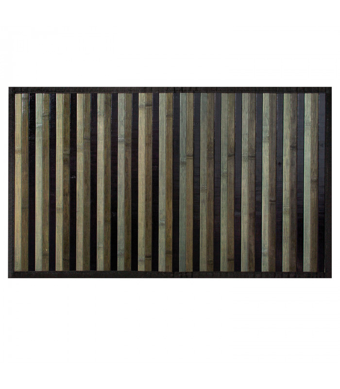 BAMBOO - Nero, tappeto antiscivolo a listelli di bamboo per la cucina. vetrina