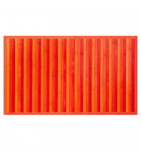 BAMBOO - Orange, non-slip rug for the kitchen, degradé effect bamboo runner