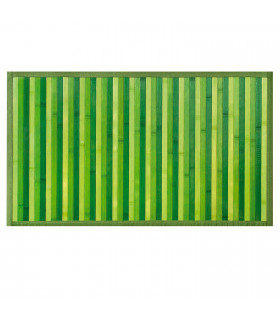 BAMBOO - Green, non-slip rug for the kitchen, degradé effect bamboo runner