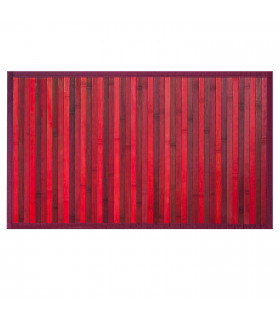 BAMBOO - Red, non-slip rug for the kitchen, degradé effect bamboo runner