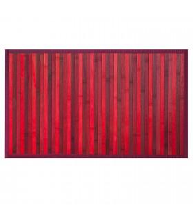 BAMBOO - Rosso, tappeto antiscivolo per la cucina, passatoia di bamboo effetto degradè vetrina