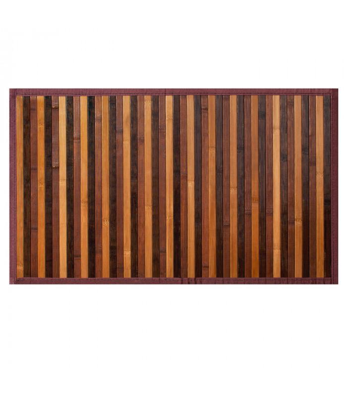 BAMBOO - Marrone, tappeto antiscivolo per la cucina, passatoia di bamboo effetto degradè vetrina