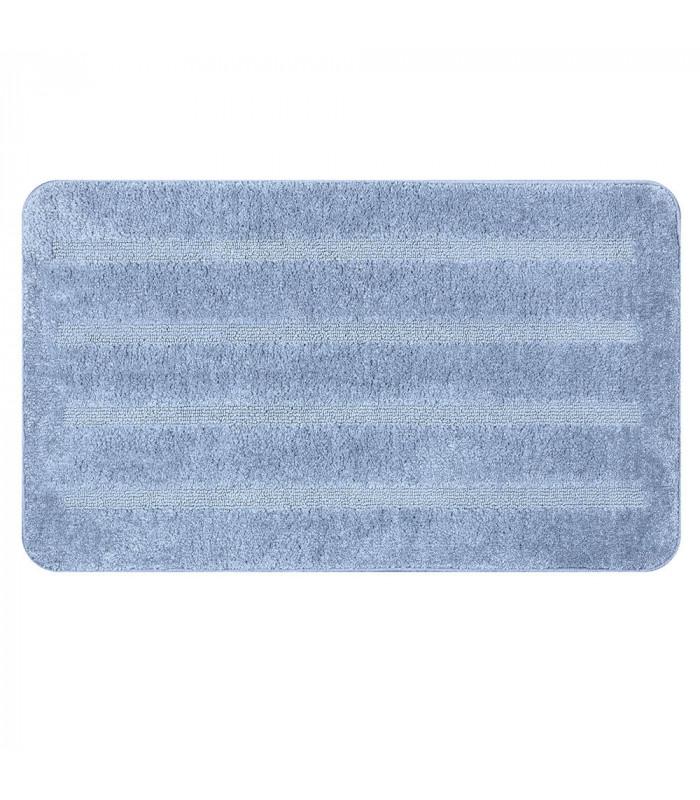 PARADISE - Azzurro, tappeto 100% microfibra a pelo raso con fondo antiscivolo