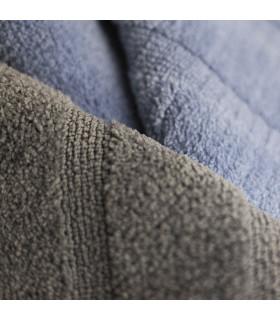 PARADISE - Azzurro, tappeto 100% microfibra a pelo raso con fondo antiscivolo dettaglio
