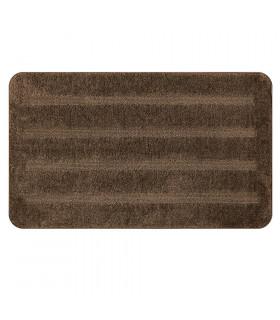 PARADISE - Brown, 100% microfiber short pile rug with non-slip bottom