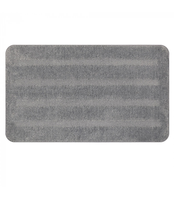 PARADISE - grey, 100% microfiber short pile rug with non-slip bottom