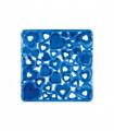 VENTOSA – Tappetino doccia antiscivolo e antimuffa in gomma con design a cuori. Blu 52x52 cm