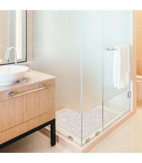 Tappetino bianco per vasca doccia in gomma antiscivolo con ventose
