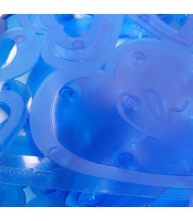 VENTOSA - Vasca blue, anti-slip and anti-mold mat with heart print 36x72 cm. detail