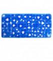VENTOSA – Tappetino vasca antiscivolo e antimuffa in gomma con design a cuori. Blu 36x72 cm