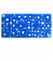 VENTOSA - Non-slip and mold-proof rubber bath mat with heart design. Blue 36x72 cm