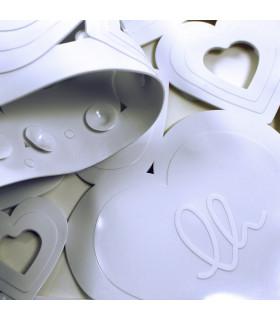 VENTOSA - tub White, anti-slip and anti-mold mat with heart print 36x72 cm. detail