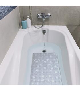 VENTOSA - Bathtub Transparent, anti-slip and anti-mold mat with heart print 36x72 cm. ambient