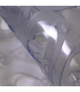 VENTOSA - Bathtub Transparent, anti-slip and anti-mold mat with heart print 36x72 cm. detail