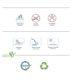COCCO 2m - Zerbino in fibra di cocco naturale, cattura sporco. Su misura, da ingresso. etichetta