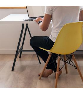 GHOST - Tappeto protettivo salva pavimento di plastica 90X120 ambientata scrivania
