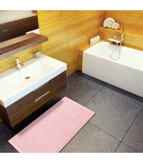 CORN 3 - Rosa, Tappeto da bagno 100% microfibra super soffice, assorbente e antiscivolo. ambientata