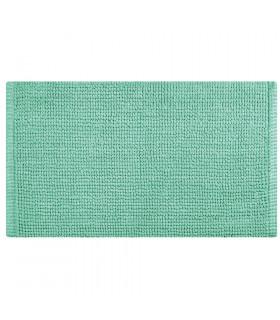 CORN 3 - Azzurro, Tappeto da bagno 100% microfibra super soffice, assorbente e antiscivolo.