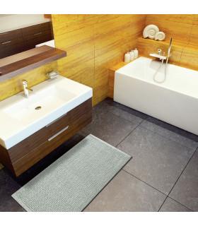 CORN 3 - Grey, super soft microfiber bath mat, absorbent and non-slip. ambient