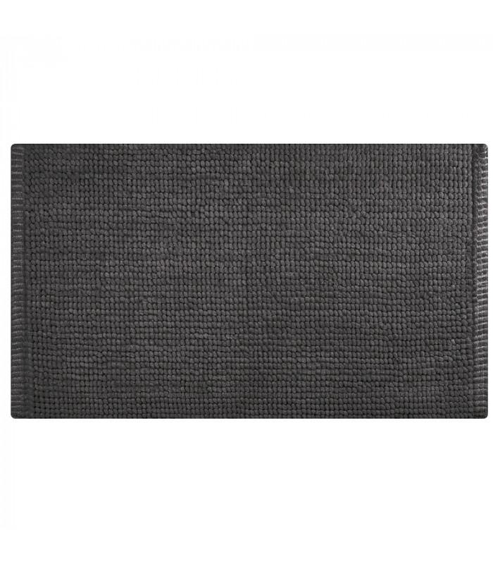 CORN 3 - Anthracite, super soft microfiber bath mat, absorbent and non-slip.