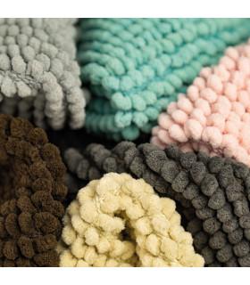 CORN 3 - brown, super soft microfiber bath mat, absorbent and non-slip. detail