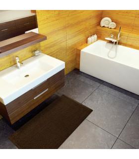 CORN 3 - Brown, super soft microfiber bath mat, absorbent and non-slip. ambient