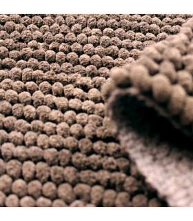 CORN 3 - Brown, super soft microfiber bath mat, absorbent and non-slip. detail 1