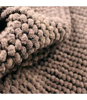 CORN 3 - Brown, super soft microfiber bath mat, absorbent and non-slip. detail 2