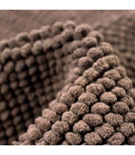 CORN 3 - Brown, super soft microfiber bath mat, absorbent and non-slip. detail 3